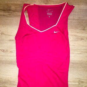 Nike Dri-Fit Womens Top Sz XS Hot Pink